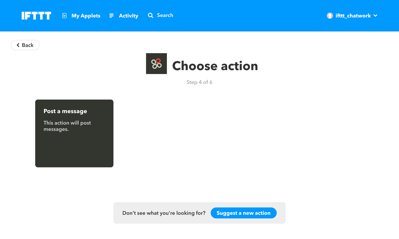 図:post a message選択画面